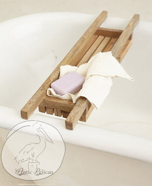 Rustic-Bath-Tray Reclaimed Wood Shower Caddy