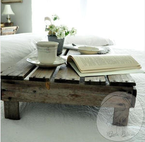 Reclaimed Wood Farmhouse bed tray-ottoman tray
