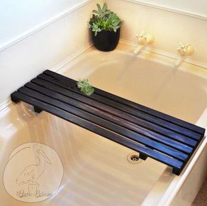 Rustic Bath Tray- Shower Caddy Bathroom Decor