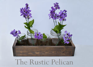 Reclaimed Wood farmhouse centerpiece-planter box