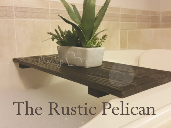 Bath Tray -Rustic Home Decor, Rustic Furniture, Rustic Decor, Shower Caddy