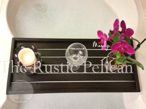 Rustic bath Tray, shower caddy