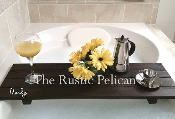Rustic Bath tray, wood bath caddy