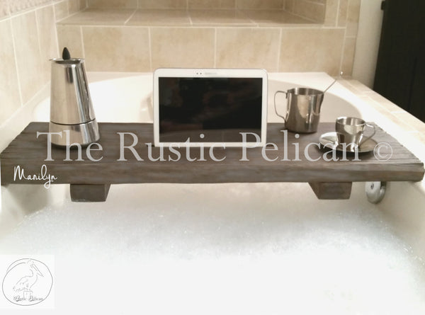 Rustic Bathtub Caddy, Wood Bathtub Tray