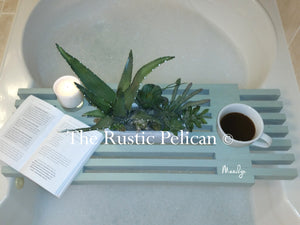 Reclaimed Wood Bathtub Tray, Bath Caddy
