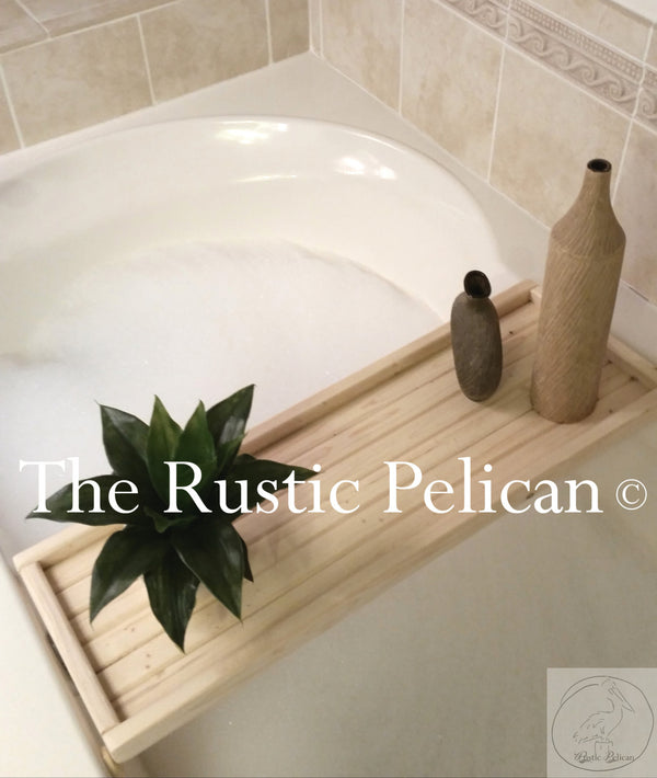Reclaimed Wood Bath tray, Rustic Bath caddy