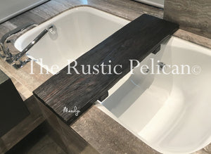 Bath Tray, Bathroom Accessories, Tray, Wooden Bath Caddy, Tub Caddy