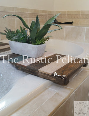Reclaimed Wood bath tray, rustic nautical home decor