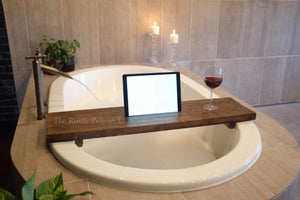 Rustic Bathtub Tray, Bath shower caddy