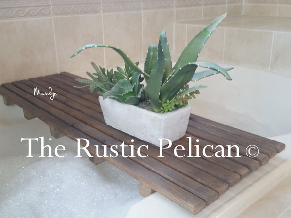 Rustic Bath Caddy, Shower caddy Bath Tray