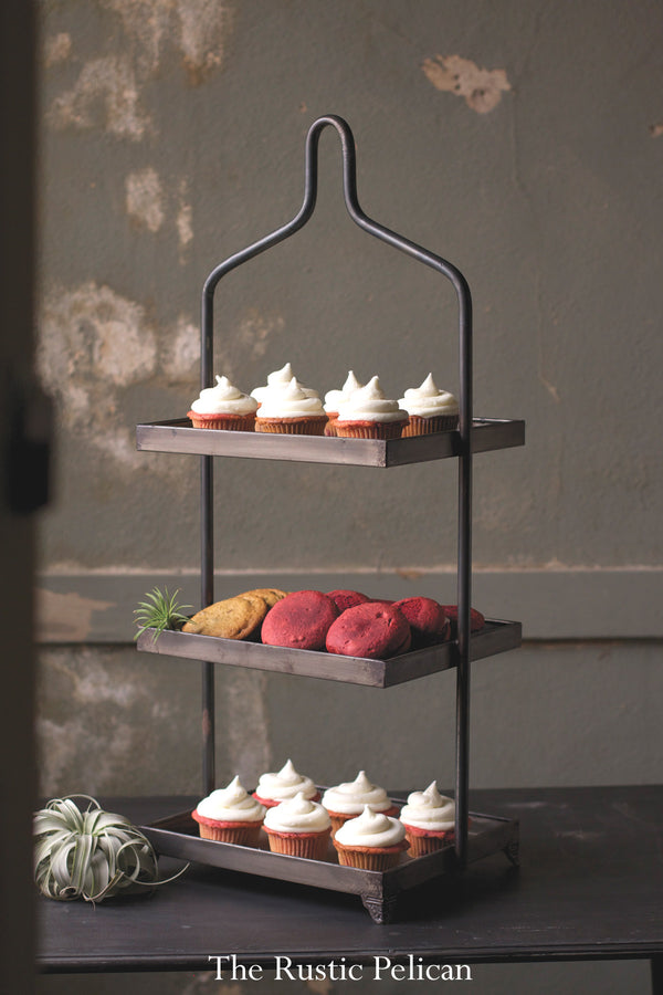 FREE SHIPPING - Rustic Display Dessert Stands