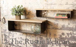 Reclaimed wood floating shelves rustic home decor