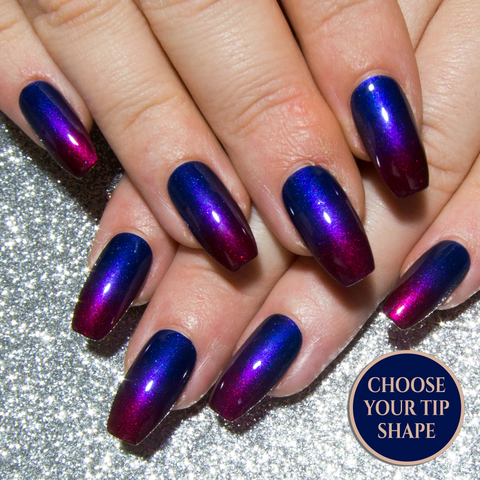 """ The Chameleon Chromes"" - Colour Shifting False Nails"
