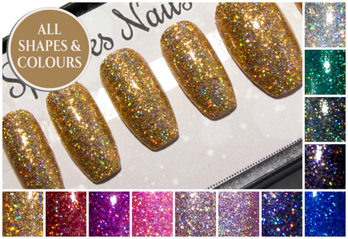"""The Ultra Holographic Glitters"" - Press On Nails"