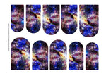 Load image into Gallery viewer, Blue Yellow & Purple Galaxy Nail Decals
