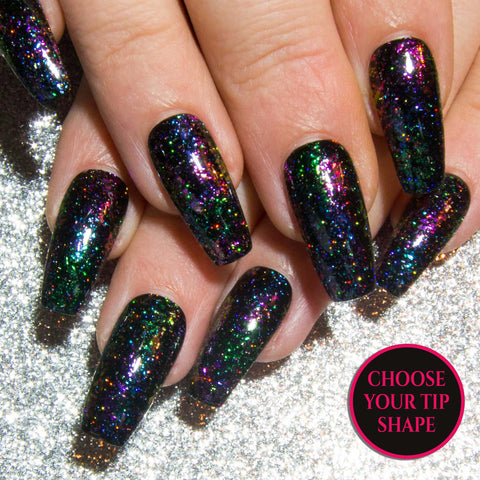 """The Ultra Holographic Glitters"" - Glitter False Nails"
