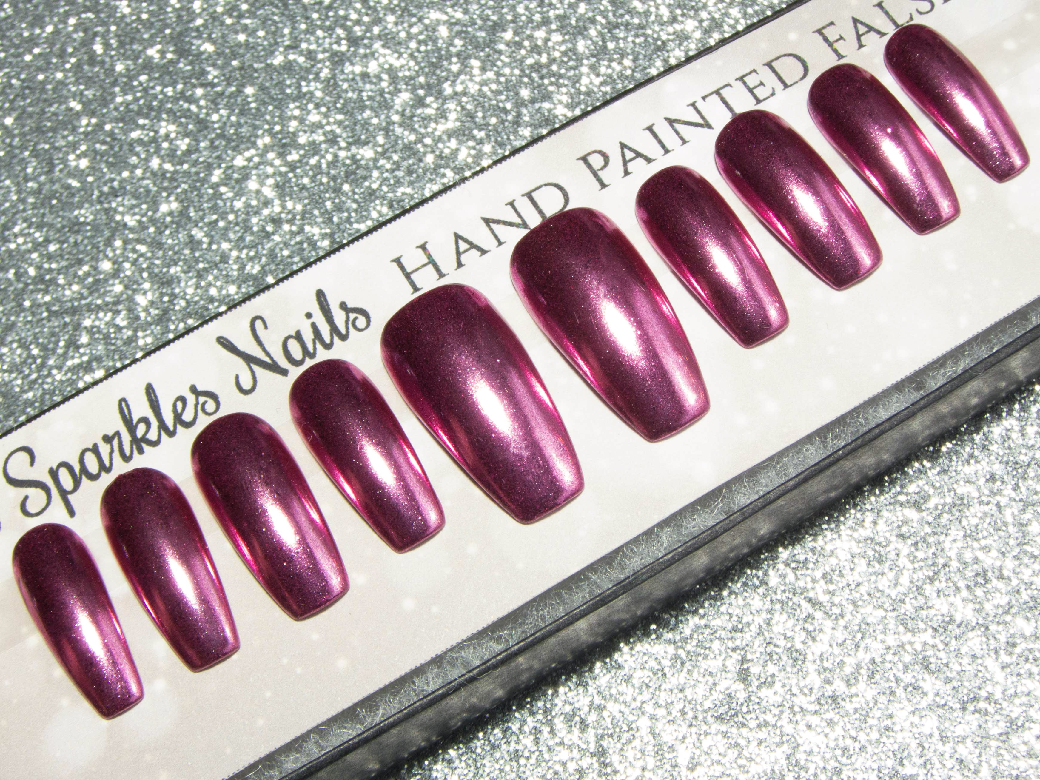 Pointed Press On Nails – Sarah\'s Sparkles Nails