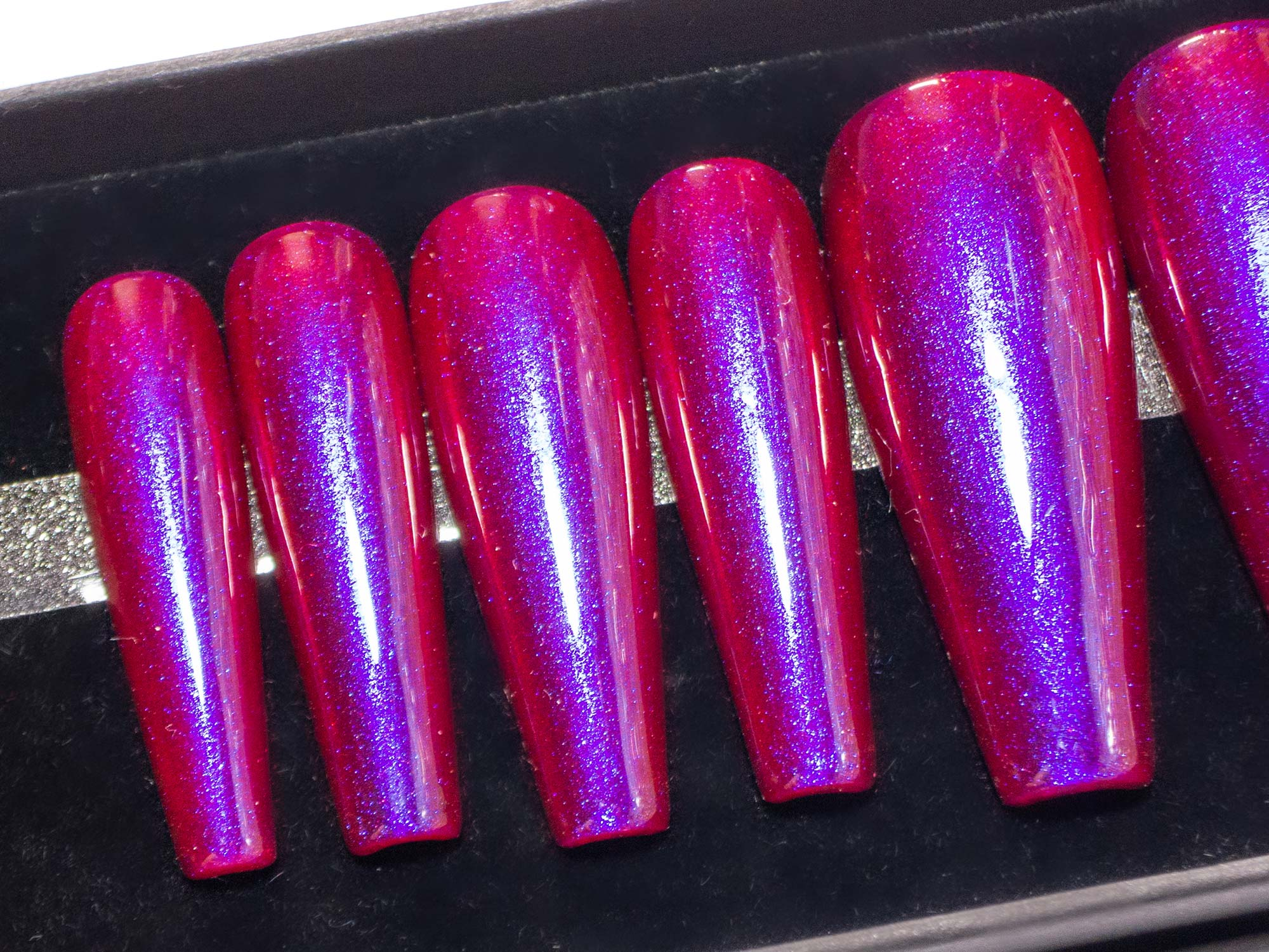 """Red-y or Not"" - Purple-Red Intense Duochrome Nails"