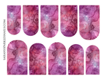 Load image into Gallery viewer, Pink & Red Galaxy Nail Decals