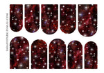 Load image into Gallery viewer, Scarlet Galaxy Nail Decals