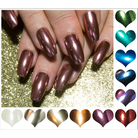 """Blow Up Princess"" Pink Glass Nails with Swarovski - Extra Long Coffin, Stiletto or Almond"