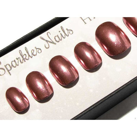 """Foiled In Fuchsia"" Pink, Purple & Copper Glitter Metallic Foils - All Nail Shapes"
