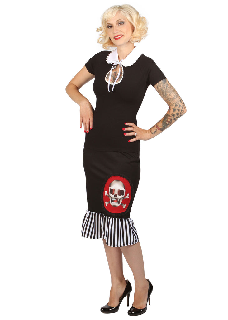 mode merr topsy turvy skirt sus with jailbreak ruffle and eye candy blouse