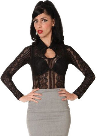 The Leading Lady Blouse - Black Lace