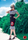 mode merr topsy turvy skirt skull with jailbreak ruffle