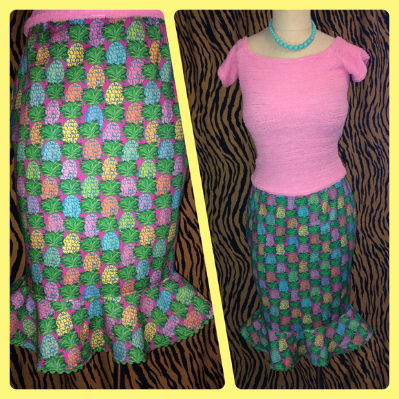 The Topsy Turvy Skirt - Black or Your choice of custom fabrics!