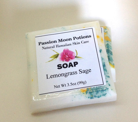 Lemongrass Sage Soap - Passion Moon Potions - 1