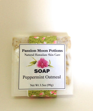 Peppermint Oatmeal Soap - Passion Moon Potions - 2