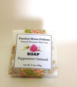 Peppermint Oatmeal Soap - Passion Moon Potions - 1