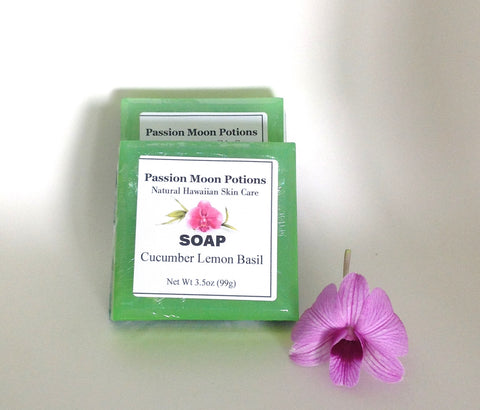 Cucumber Lemon Basil Soap - Passion Moon Potions - 1