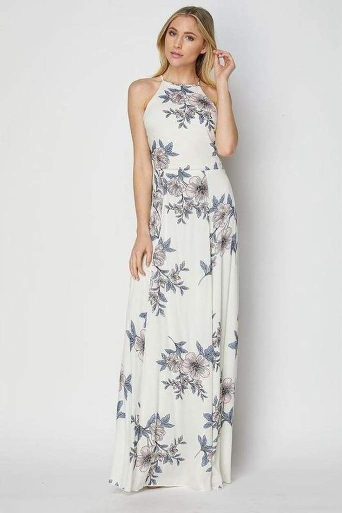 Adele Backless Maxi Dress - DRESSES - Affordable Boutique Fashion