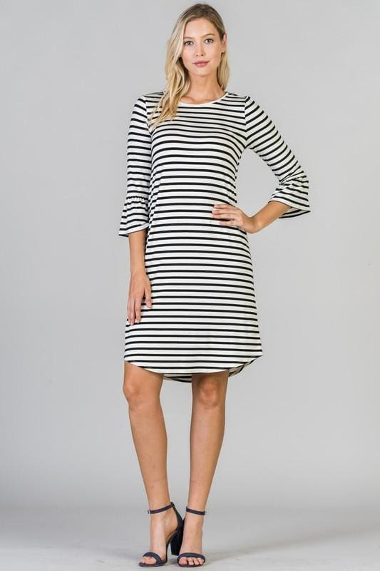 Allison Striped Midi Dress - Dresses - Affordable Boutique Fashion