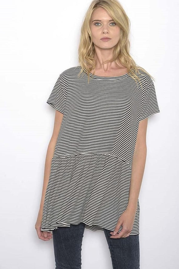 Amarante Striped Tee - TOPS - Affordable Boutique Fashion