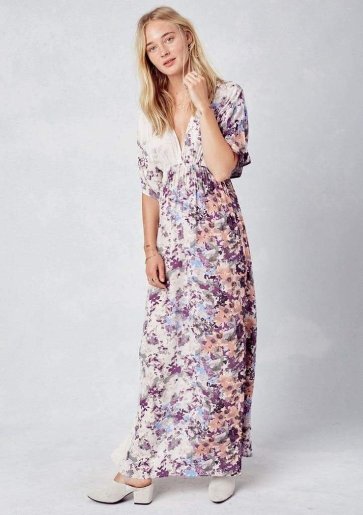 Ambrosie Kimono Maxi Dress - Dresses - Affordable Boutique Fashion
