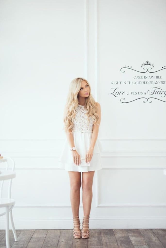 Anastasia Lace Fit and Flare Dress - DRESSES - Affordable Boutique Fashion