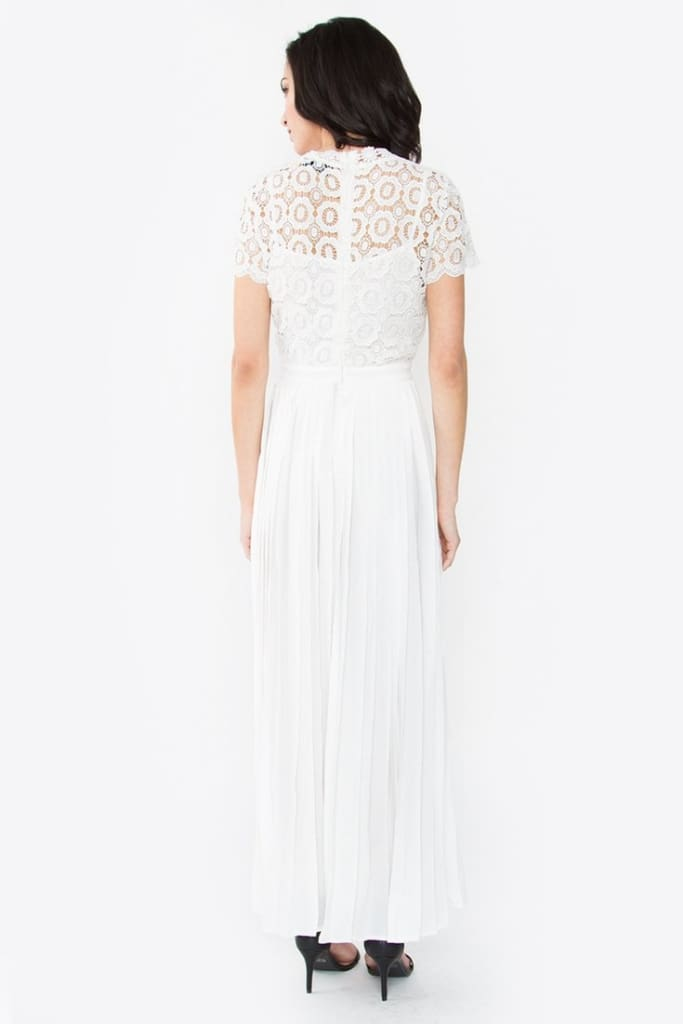 """Ariel"" Elegant White Dress - Dresses - Affordable Boutique Fashion"