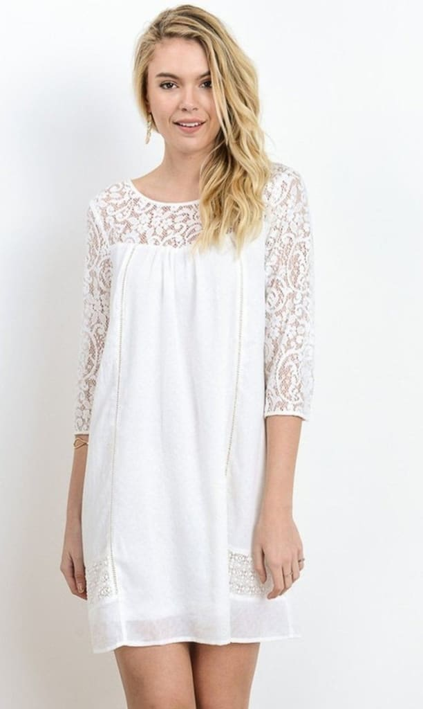 Aspen Lace shift dress - DRESSES - Affordable Boutique Fashion
