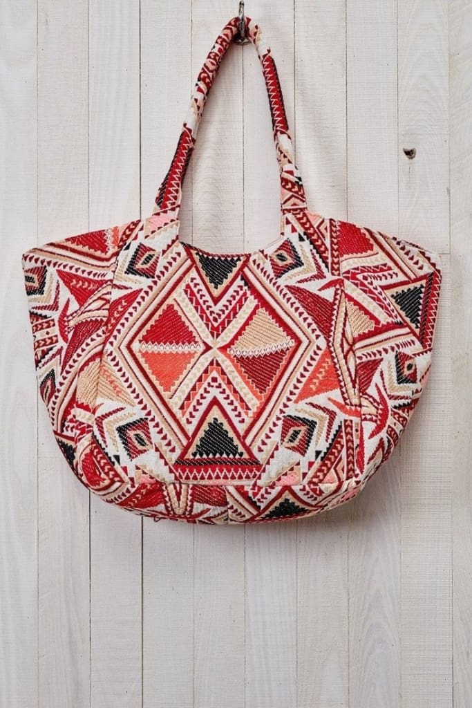 """Astor"" Baby Bag Tote by Love Stitch - HANDBAGS - Affordable Boutique Fashion"
