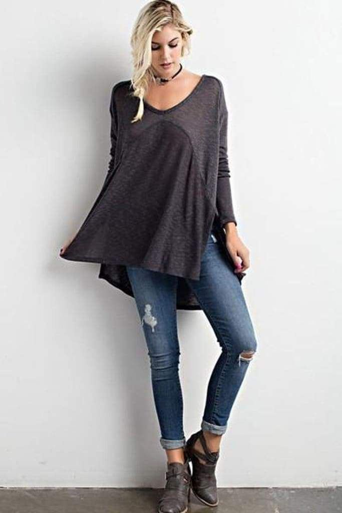Atlantic Vintage Knit - Charcoal - wishlist - Affordable Boutique Fashion