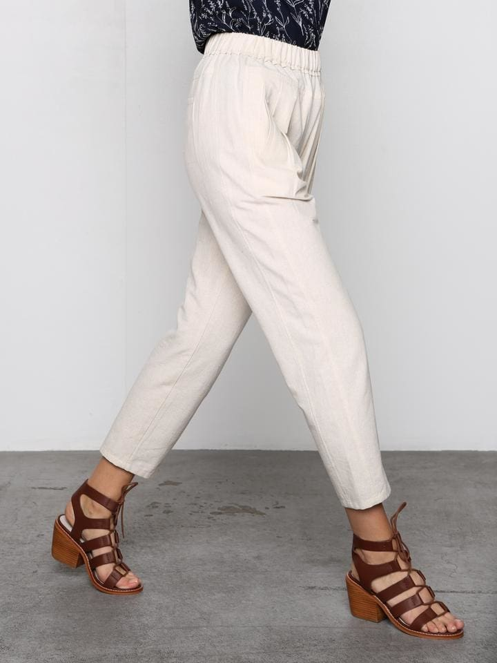 Au Naturale Linen Blend Pants - BOTTOMS - Affordable Boutique Fashion