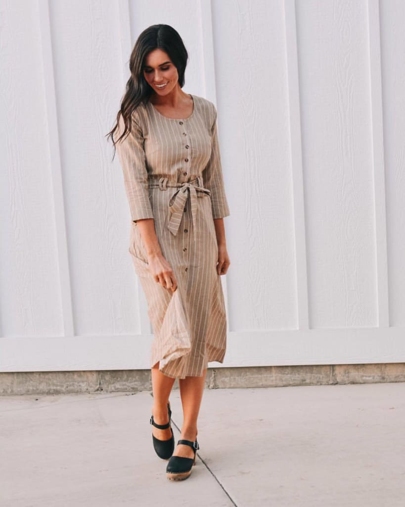 Barilla Striped Shirt Dress - Dresses - Affordable Boutique Fashion
