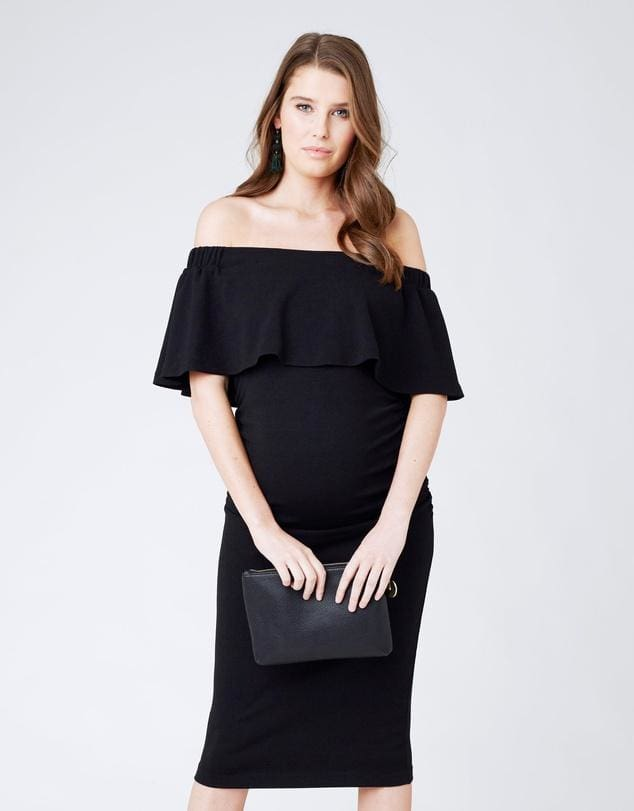 Barkley Solid Maternity Dress - DRESSES - Affordable Boutique Fashion