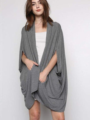 Barlett Cardigan | Charcoal - Tops - Affordable Boutique Fashion