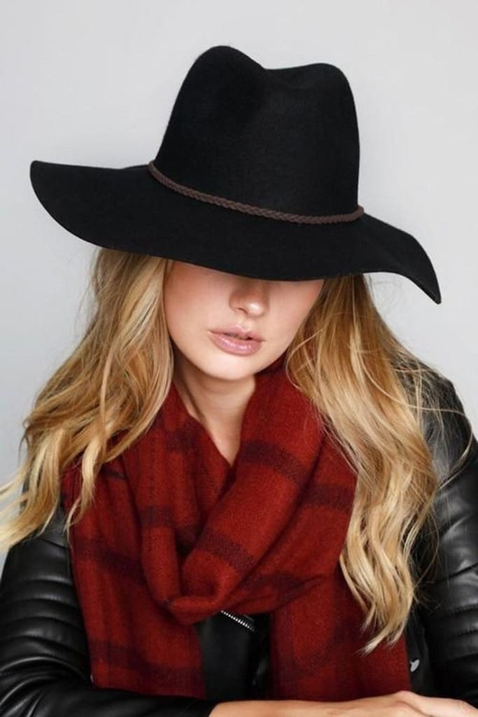 Barrett Black Wool Hat - Accessories - Affordable Boutique Fashion