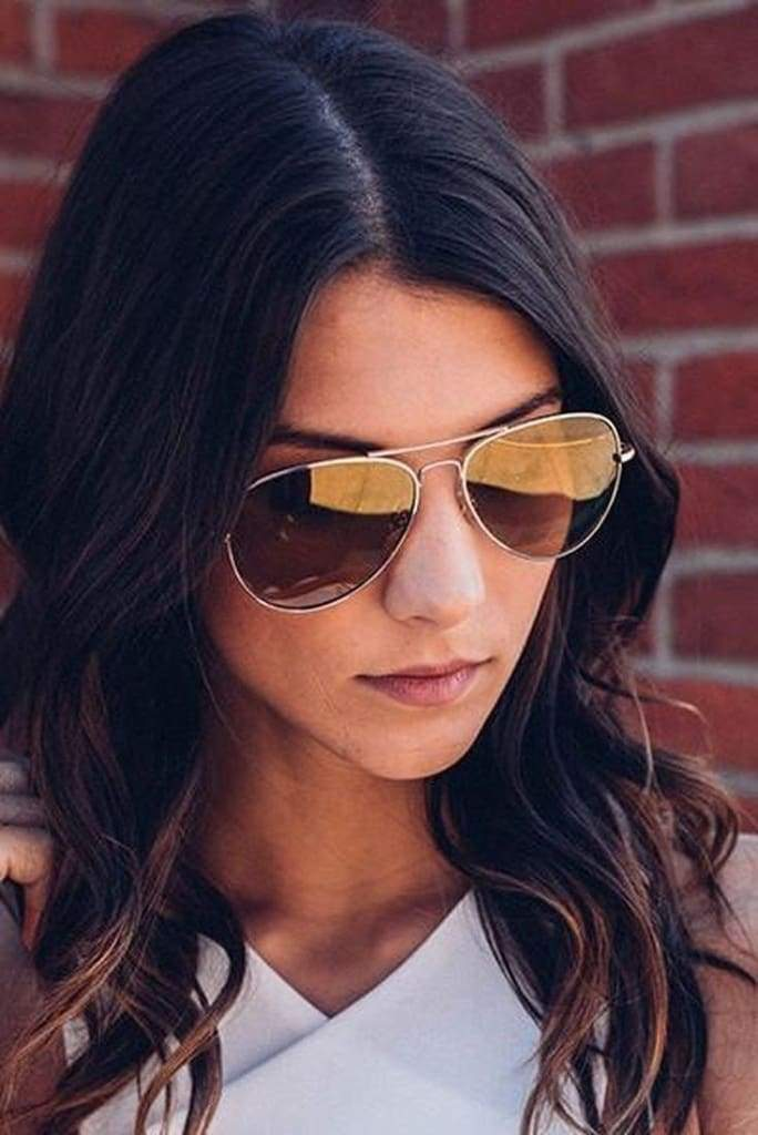 Beach Boss Aviators - Brown - Bottoms - Affordable Boutique Fashion