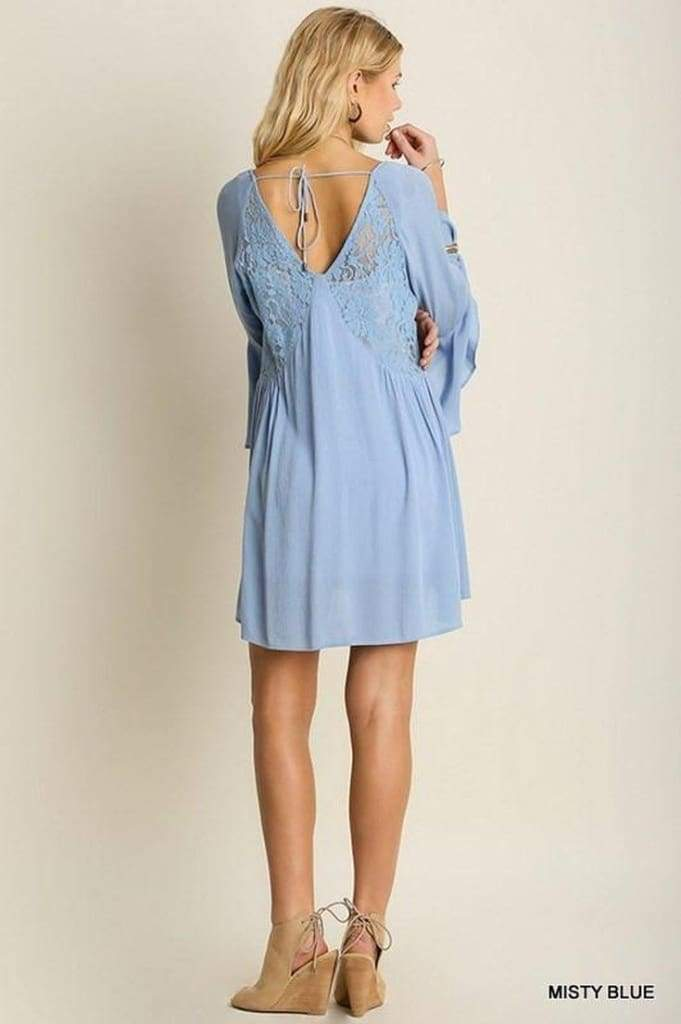 Blue by the Competition Powder Blue Lace Shift Dress - SALE - Affordable Boutique Fashion